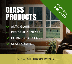 Photo of glass products by Glass Specialty WLC: auto glass, residential glass, commercial glass, and classic cars.
